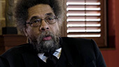 Still image of Cornel West on why free speech is imperative.